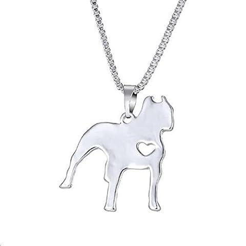 Fashion Dog Pendant Necklace Pet Dog Memorial Gift, Welsh Corgi Labrador Pitbull Husky Alaskan Akita Boxer Corgi Dachshund German Shepherd Golden Retriever - Rottweiler Jewelry