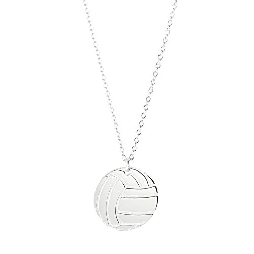 Deidreamers Sterling Silver Sports Necklace (volleyball (Silver : Small))