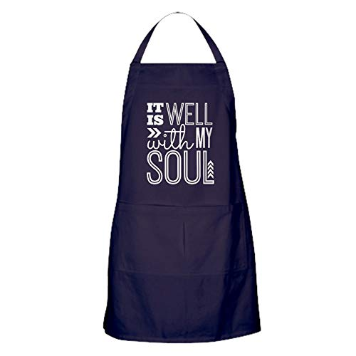 CafePress It Is Well With My Soul Kitchen Apron with Pockets, Grilling Apron, Baking Apron