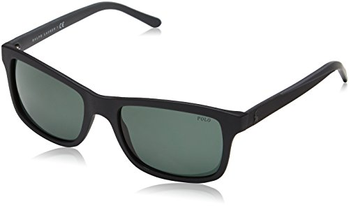 Polo Matte Black Green Sonnenbrille Noir PH4095 SOrq8wS