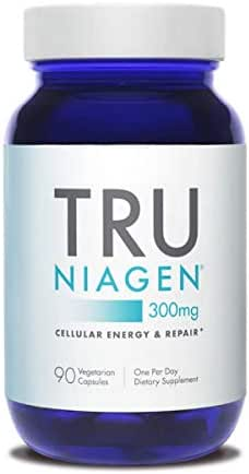 TRU NIAGEN Nicotinamide Riboside NAD Booster for Cellular Repair & Energy (NSF Certified for Sport) - 300mg Vegetarian Capsules, 300mg Per Serving - 90 Day Bottle