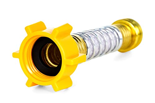 No Thread Coupling - Camco Flexible Hose Protector-Eliminates Hose Crimping and Straining at Faucets and Water Connections, Creates Hose Flexibility (22703)