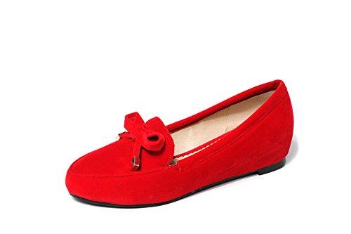 À Tête Grande 42 En Femmes Télévision Profonde Peu Bouche Taille Chaussures Rouge Simple Augmentation Carrée Hauteur q1wYXf7