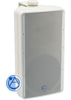 Atlas Sound SM82T-WH 8-Inch 2-Way Weather Resistant Speaker System with 70.7V/100V-60W Transformer and 8 ohm Bypass