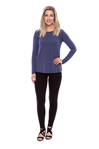 Clothes From The Seventies (Texere Women's Long Sleeve T-Shirt (Bellatee, Heather Denim Blue, M) Vday)