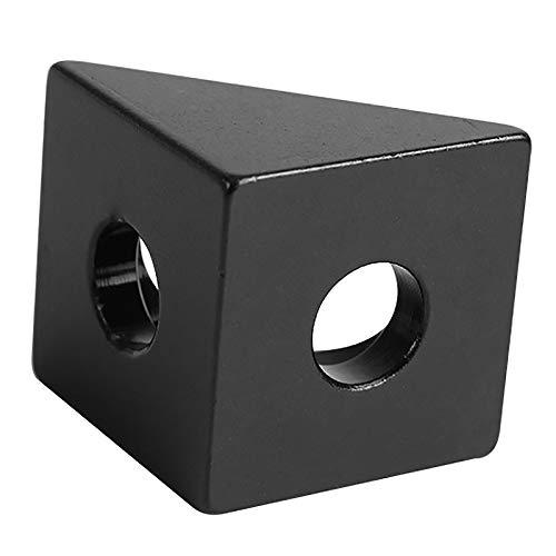 Cikuso 1 Pieza Conector De Esquina De Angulo Negro V-Ranura Soporte De Angulo De 90 Grados para Openbuilds CNC Molino Piezas DIY De Impresoras 3D