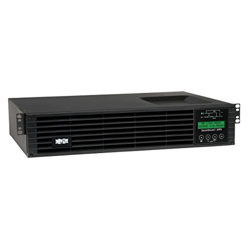 Tripp Lite 1500VA Smart Online UPS Back Up, 1300W Double-Conversion, Extended Run Option, 2U Rackmount, LCD, USB, DB9 (SU1500RTXLCD2U)