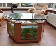 Coffee Table Fish Tank 299l Hexagonal Design In Beech Amazon Co