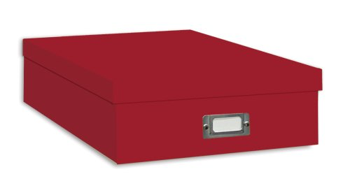 Pioneer Jumbo Scrapbook Storage Box, - Red Acid