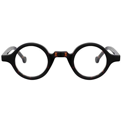 Zeelool Unisex Acetate Vintage Small Round Eyeglasses Frame Arale FA0176-02 Tortoise