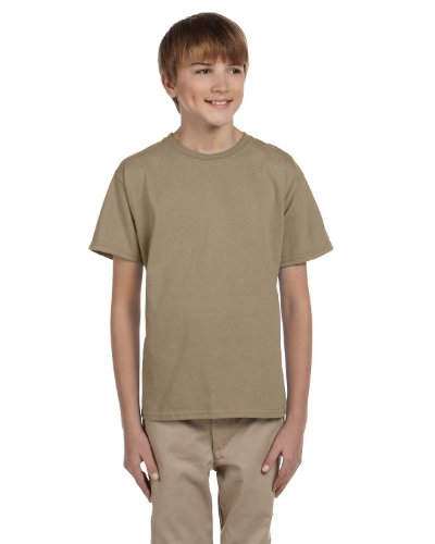 picture of Fruit of the Loom 3931B Youth Cotton T-Shirt - KHAKI - X-Small