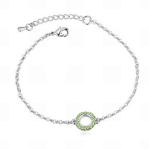HOX Austrian Crystal Bracelet - Circle Dot Fashion Ol Simple Bracelet Geometric Ornament Female Simple Crystal Alloy Gold Plated Gold, Olive
