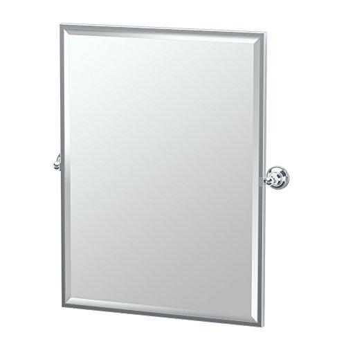 (Gatco 4329FS Tiara Framed Large Rectangle Mirror, Chrome)