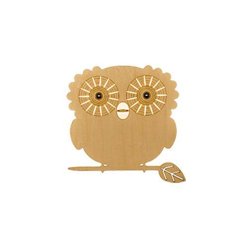 Unbekannt CHENGYI Wandlampe, LED Kreative Wandleuchte Massivholz Kunst Kinderzimmer Cartoon Schlafzimmer Moderne Wohnzimmer Dekoration Nachtlicht (Design : B-owl (25cm in Diameter))