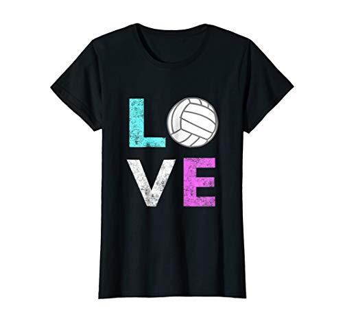 Girls Love Volleyball Best Fun Birthday Gift TShirt