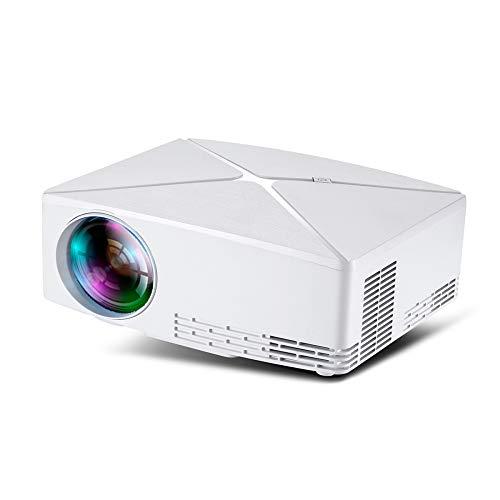 BESTSUGER Projektor, HD Video Projektor, 2800 Lens LED Lens Home Theater Movie Projector Support 1080P, kompatibel mit…