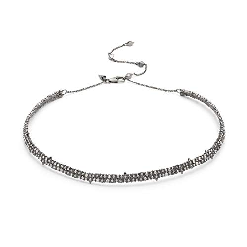Alexis Bittar Women's Crystal Encrusted Spike Accented Choker Necklace Ruthenium/10K - Alexis Lucite Necklace Bittar