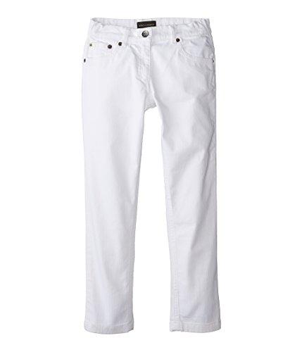 Dolce & Gabbana Kids Girl's Mediterranean Five-Pocket Jeans in White/Denim (Big Kids) White/Demin Jeans by Dolce & Gabbana