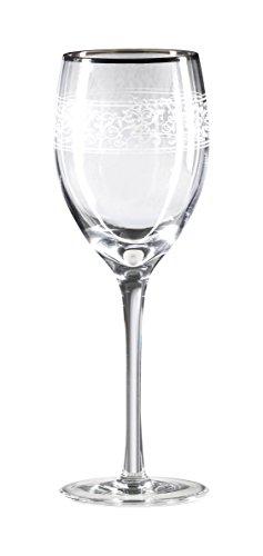 (Mikasa Parchment Platinum Goblet, 12-Ounce, Set of 4)