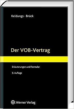 Der Vob Vertrag Erläuterungen Und Muster Amazonde Hermann