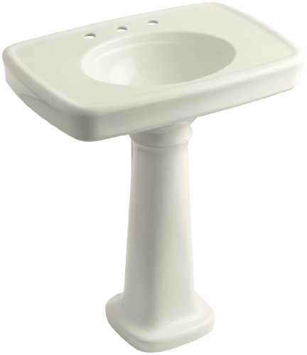 KOHLER K-2347-8-96 Bancroft Pedestal Bathroom Sink with Centers for 8