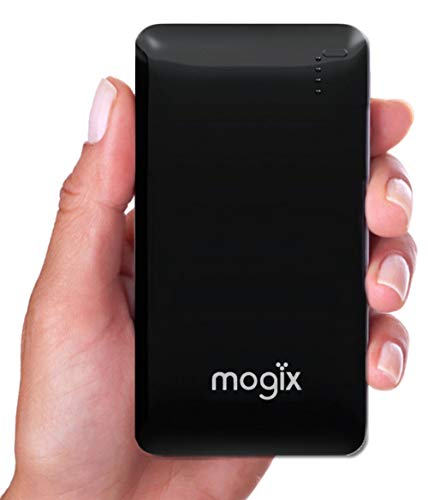Mogix External Battery Phone Charger 10400mAh Power Pack - Best Bank for Fast Charging 2 USB Ports (Black) (Best External Power For Iphone)