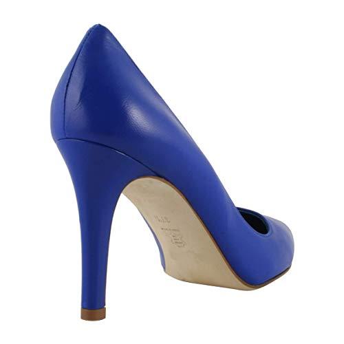 à Bleu Roi Talons Kate Chaussures Cuir en 6wv7TxWdq