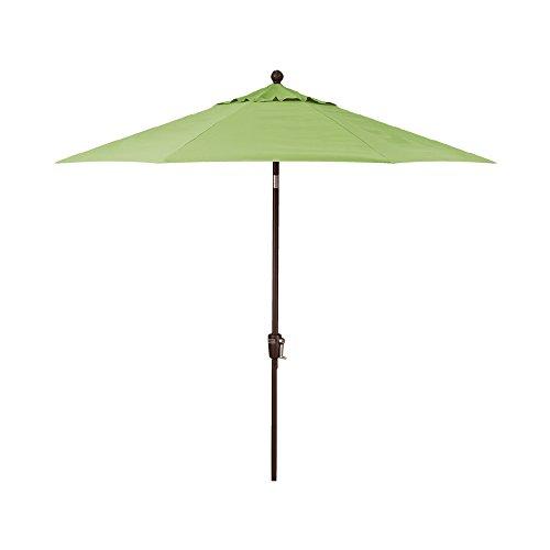 (9-Foot Treasure Garden (Model 810) Deluxe Auto-Tilt Market Umbrella with Bronze Frame and Obravia2 Fabric: Kiwi )