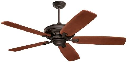 24 in Indoor Oil-Rubbed Bronze Ceiling Fan with Light Kit For Small Tight Room