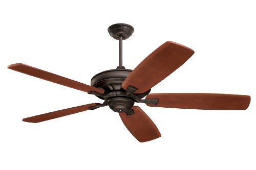 Emerson Ceiling Fans CF788ORB Carrera Grande Eco Indoor Outdoor Ceiling Fan With 6-Speed Wall Control, Energy Star And Damp Rated, Blades Sold Separately, Light Kit Adaptable, Oil Rubbed Bronze Finish ()