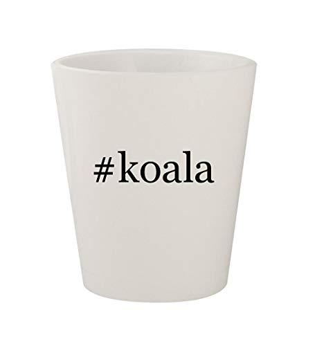 #koala - Ceramic White Hashtag 1.5oz Shot Glass ()