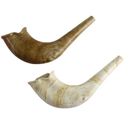 Judaica Mega Mall Magnificent Plastic Toy Shofar with Natural Color -
