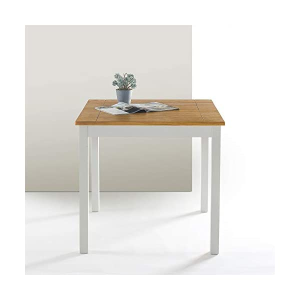 Zinus Becky Farmhouse Square Wood Dining Table
