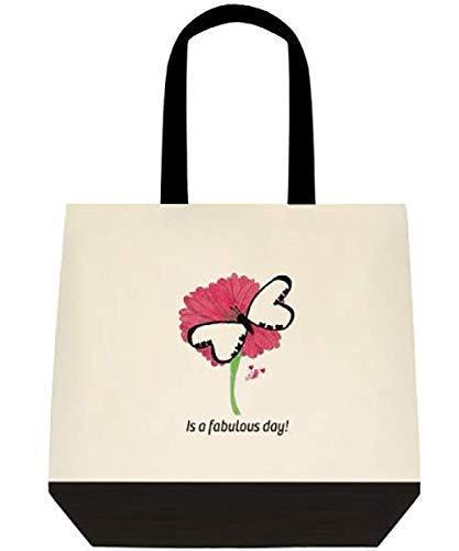 Custom Design Canvas Butterfly Shoulder tote hand bag Large