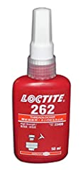 LOCTITE 262 is a red, general purpose, medium to high strength, thixotropic methacrylate-based adhesive. Steel fixture time is 15 min, brass 8 min and stainless steel 180 min. It fluoresces under UV light to allow monitoring. Ideal for applic...