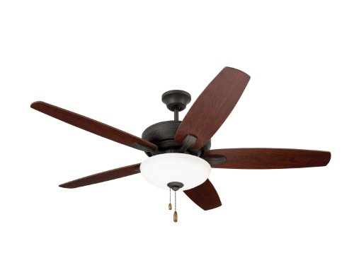 (Emerson Ceiling Fans CF717ORB Ashland, 52-Inch Low Profile Hugger Ceiling Fan With Light, Oil Rubbed Bronze Finish)