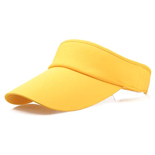 Provone Elastic Sun Hat Visors Hat Outdoor Visor Length Short Hollow Cap No Top Sun Hat for Women Men in Outdoor Sports Golf Tennis Running Jogging Hiking(YW) ()