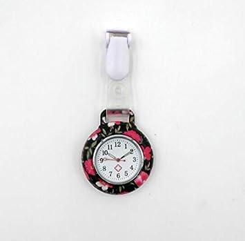 HeyBro - Reloj de Bolsillo con impresión de Silicona, diseño de Goma, Reloj médico de Cuarzo para Enfermera: Amazon.es: Deportes y aire libre