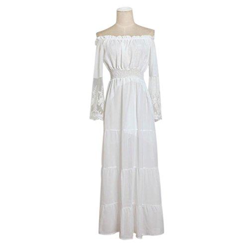 Kleid Transer® Damen Ebene Off Schulter Lange Ärmel Partei Kleid ...