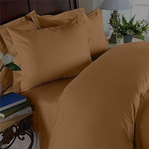 Elegant Comfort 1500 Thread Count Wrinkle Resistant Egyptian Quality 3-Piece Duvet Cover Set, King/California King, Bronze