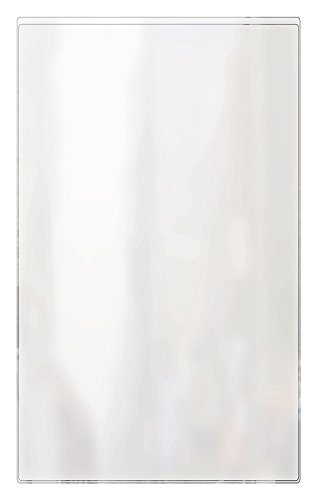 Risch 100 8.5X14 Heat Sealed Vinyl Menu Cover Single Pocket 2 View, All Clear, 8.5