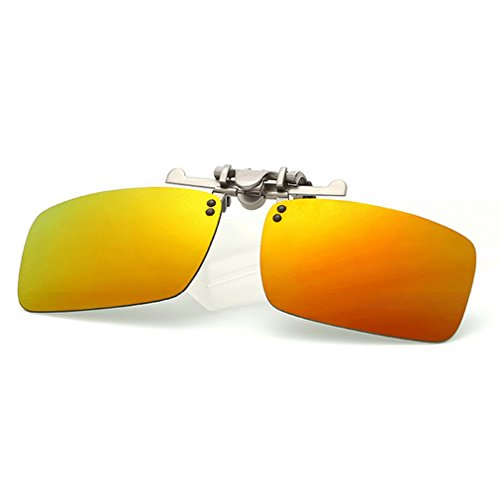 LOMOL Fashion Polarized Myopia Clip-on Flip up UV Protection Rectangular - Be To Does It Sunglasses Polarized Mean What For