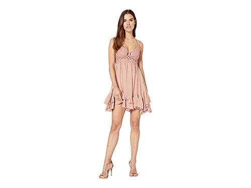 Free People Women's Adella Slip Dress, Rose, Pink, Small