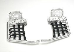 DG Performance 607-4170 - Alloy Nerf Bars with Heel Guard - Aluminum fits Yamaha Raptor 350 (2004 - 2012)