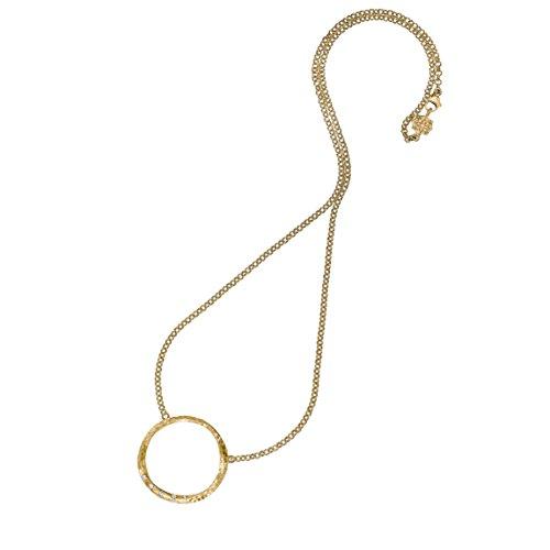 Dower & Hall Eternal Chaîne avec pendentif en forme d'anneau Or jaune 9 carats et diamants 46cm