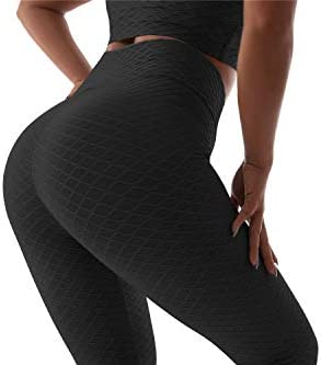 BEELU FASHION BOUTIQUE Women's Butt Lifting Leggings High Waist Workout Sport Fitness Gym Tights Or Bra