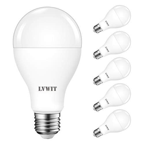 chollos oferta descuentos barato LVWIT Bombillas LED A67 Casquillo E27 equivalente a 120W 6500K Luz Blanca Fría 1900 lm Bajo consumo No regulable Pack de 6 Unidades