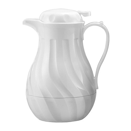 Chef's Supreme - 64 oz. White Plastic Insulated Carafe by Chef's Supreme
