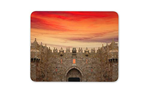Damascus Gate Mouse Mat Pad - Jerusalem Old City Arab Bazaar Mouse Pad Mousepad -8982