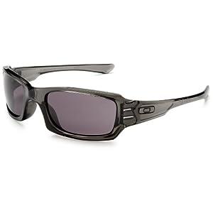 Oakley Men's Fives Squared Sunglasses,Grey Smoke Frame/Warm Grey Lens,one size